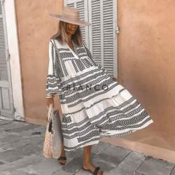 Φόρεμα λινό boho