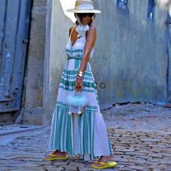 Φόρεμα boho λινό