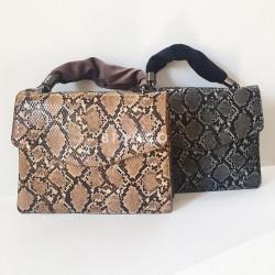 Τσάντα snake print