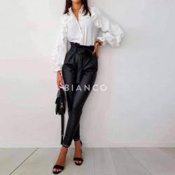 Παντελόνι eco leather με ζώνη