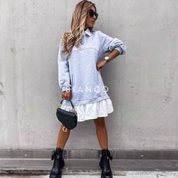 Μπλουζοφόρεμα με πουκάμισο