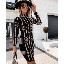 Φόρεμα πλεκτό με print
