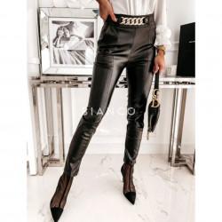 Παντελόνι eco leather με αλυσίδα
