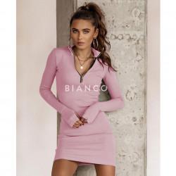 Φόρεμα ριπ με φερμουάρ