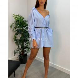 Φόρεμα πουκαμίσα με ζώνη