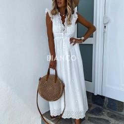 Φόρεμα αμάνικο κιπουρ
