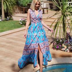 Φόρεμα κρουαζέ bohemian