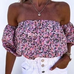 Μπλούζα floral bardot