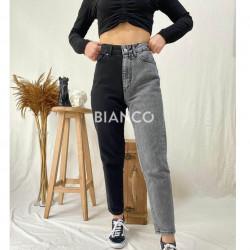 Παντελόνι jean δίχρωμο