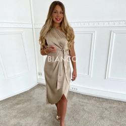 Φόρεμα σατινέ με ζώνη
