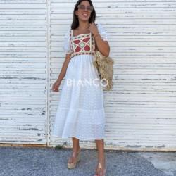 Φόρεμα κιπουρ με σχέδιο