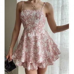 Φόρεμα floral με βολάν