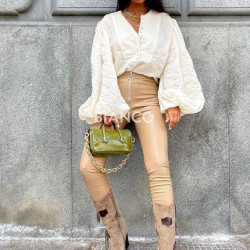 Παντελόνι croco eco leather
