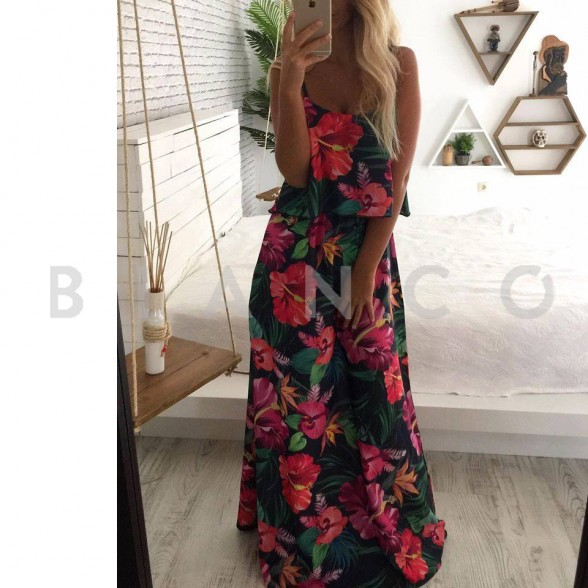 985c57cbfd66 Φόρεμα maxi Floral - bianco.gr