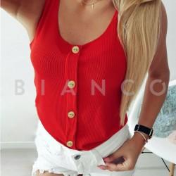 Μπλούζα με διακοσμητικά κουμπιά