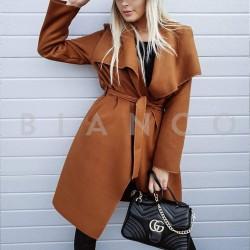Παλτό με γυριστό γιακά
