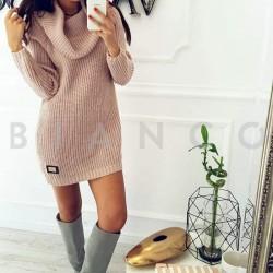 Μπλουζοφόρεμα πλεκτό με ζιβάγκο