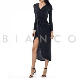 Φόρεμα Lurex με σκίσιμο