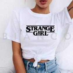T-Shirt με στάμπα'' STRANGE GIRL''