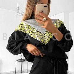 Μπλούζα φούτερ με snake print