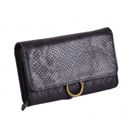 Πορτοφόλι με λεπτομέριες από δέρμα Φυδιού.