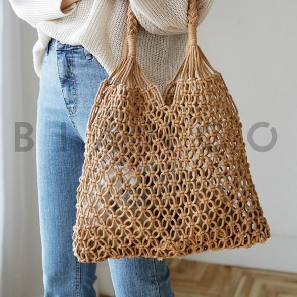 Τσάντα ώμου πλεκτή