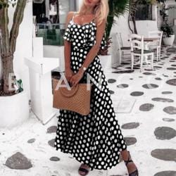 Φόρεμα maxi πουα