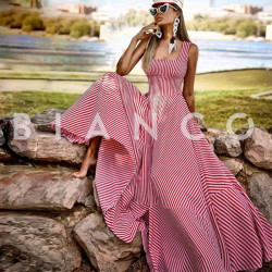 Φόρεμα maxi ριγέ