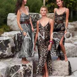 Φόρεμα maxi με animal print