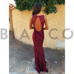 Φόρεμα maxi δαντέλα