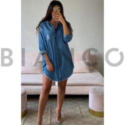 Πουκαμίσα jean φόρεμα