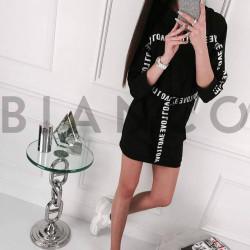 Φόρεμα φούτερ με κουκούλα