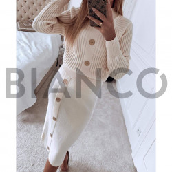 Σετ πλεκτό μπλούζα & φούστα