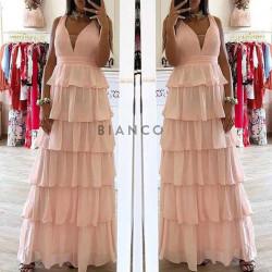 Φόρεμα maxi με φραμπαλά