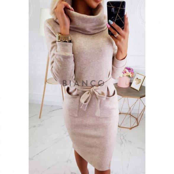 Φόρεμα πλεκτό με ζιβάγκο