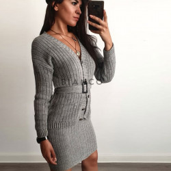 Σετ πλεκτό φούστα & ζακέτα