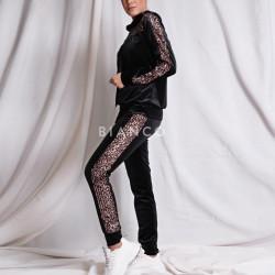 Σετ velvet παντελόνι & μπλούζα