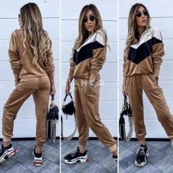 Σετ velvet, μπλούζα & παντελόνι