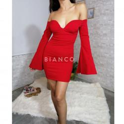 Φόρεμα με μανίκια καμπάνα
