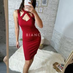 Φόρεμα με σχέδιο χιαστί
