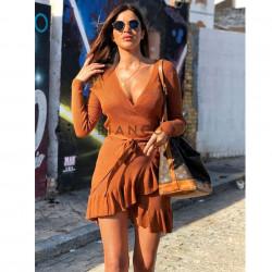 Φόρεμα πλεκτό lurex