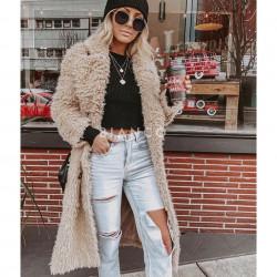 Παλτό γούνινο με γιακά