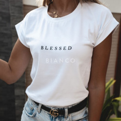 "T-Shirt με στάμπα ""BLESSED"""
