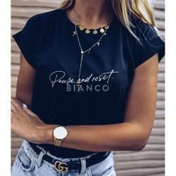"T-Shirt με στάμπα ""PAUSE.."""