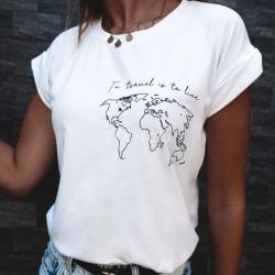 "T-Shirt με στάμπα ""TRAVEL"""
