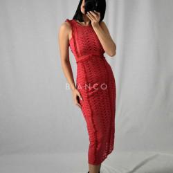 Φόρεμα αμάνικο πλεκτό