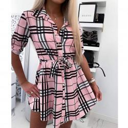 Φόρεμα πουκαμίσα καρό