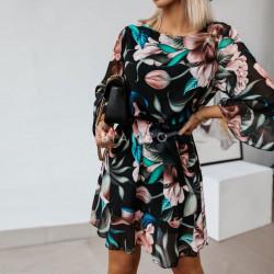 Φόρεμα floral με ζωνάκι