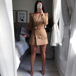 Φόρεμα blazer με ζώνη