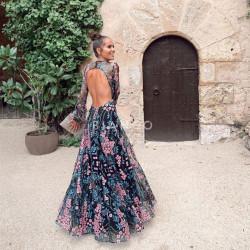Φόρεμα floral εξώπλατο